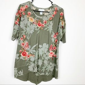 Sundance Embroidered Floral Knit Tunic Top